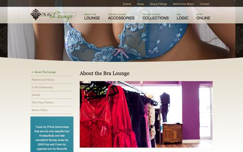 Screenshot of About Page thebralounge.ca - The Bra Lounge  |  About Us - captured Oct. 26, 2014