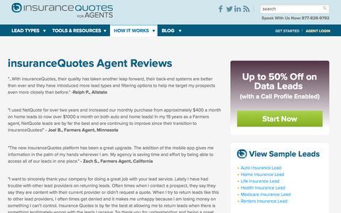 Screenshot of Developers Page insurancequotes.com - insuranceQuotes Agent Reviews - captured Nov. 16, 2016