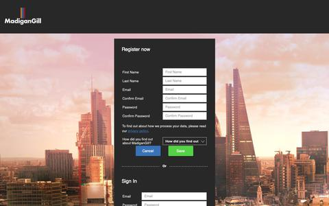 Screenshot of Login Page madigangill.co.uk - Madigan Gill Application Form - captured Nov. 6, 2018