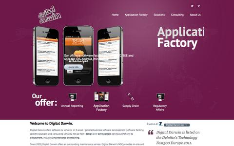 Screenshot of Home Page digitaldarwin.eu - Digital Darwin - Software Factory - captured Sept. 30, 2014