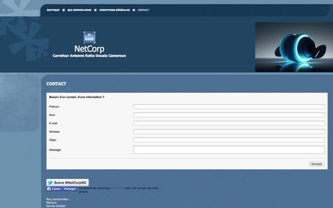 Screenshot of Contact Page netcorpnc.com - NetCorp - Contact - captured Oct. 26, 2014