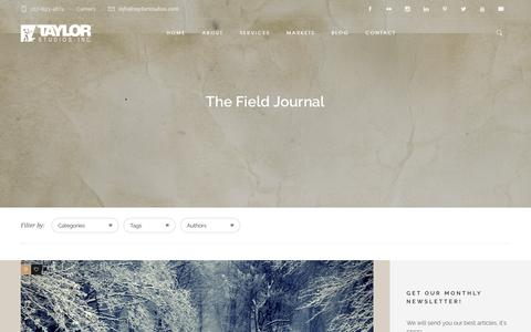 Screenshot of Blog taylorstudios.com - The Field Journal | Taylor Studios, Inc. - captured Dec. 20, 2016