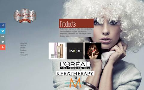 Screenshot of Products Page metalsalon.com - Products - captured Oct. 27, 2014