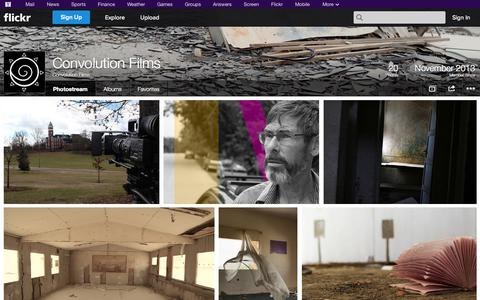 Screenshot of Flickr Page flickr.com - Flickr: Convolution Films' Photostream - captured Oct. 23, 2014