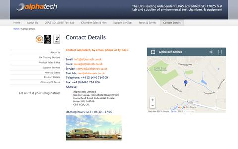 Screenshot of Privacy Page alphatech.co.uk - Contact Us: 01440 714709, info@alphatech.co.uk - captured Feb. 5, 2016