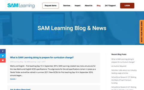 Read our regular Blogs and News articles on Education & SAM Learning