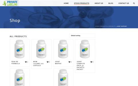 Joint Support Archives - Private Label Supplements and Vitamins