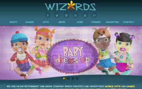 Screenshot of Home Page wizards.rs - Wizards Time D.O.O. Nis | Mobile apps and games development, publishing and marketing company based in Nis, Serbia. - captured Feb. 17, 2016