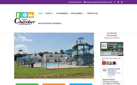 Screenshot of Home Page camdentonchamber.com - Camdenton Area Chamber of Commerce - Lake of the Ozarks - captured July 13, 2017