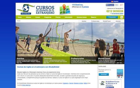 Screenshot of Home Page studyglobal.es - Cursos de inglés y estudiar inglés en el extranjero - StudyGlobal - captured Sept. 26, 2014