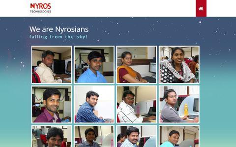 Screenshot of Team Page nyros.com - Team :: Nyros - captured Feb. 21, 2016