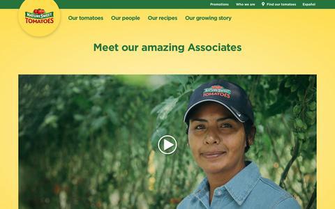 Screenshot of Team Page naturesweet.com - Meet our amazing Associates | NatureSweet - captured Sept. 13, 2018