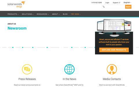 Press | SolarWinds MSP