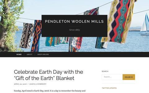 Screenshot of Blog pendleton-usa.com - Pendleton Woolen Mills | Since 1863 - captured April 22, 2018