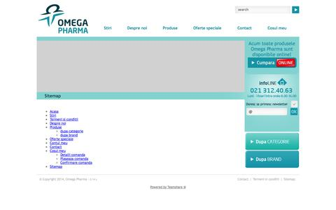 Screenshot of Site Map Page omega-pharma.ro - Sitemap | Omega Pharma - captured Oct. 26, 2014