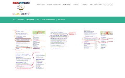 Screenshot of Case Studies Page mindsovermedia.com - PORTFOLIO | Minds Over Media - captured Sept. 30, 2014