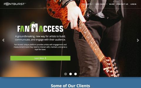 Screenshot of Home Page pointburst.com - PointBurst | The Premier Grassroots Social Media Marketing Platform - captured Sept. 12, 2014