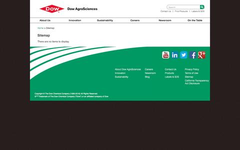 Screenshot of Site Map Page dowagro.com - Sitemap | Dow AgroSciences - captured Nov. 24, 2016