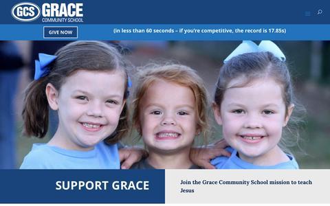 Screenshot of Support Page gracetyler.org - Support – Grace Community School - captured Sept. 6, 2017