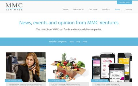 Screenshot of Press Page mmcventures.com - News - MMC Ventures - captured Dec. 13, 2015