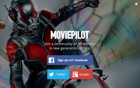 Screenshot of Login Page moviepilot.com - A New Generation of Fans | moviepilot.com - captured Feb. 25, 2016