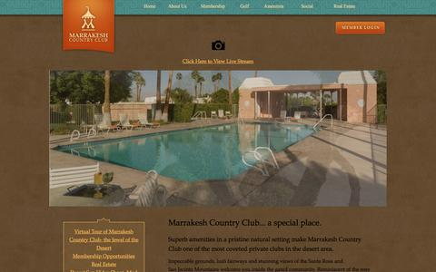 Screenshot of Home Page marrakeshcountryclub.com - Home - Marrakesh Country Club - captured Jan. 9, 2016