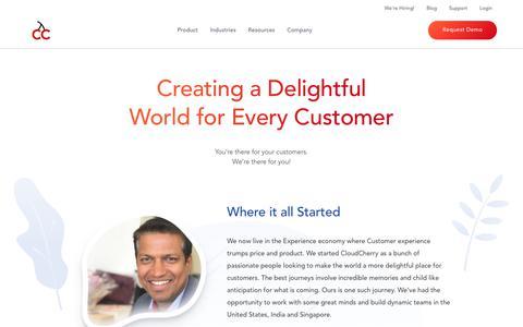 Screenshot of About Page cloudcherry.com - About Us - CloudCherry - captured Jan. 17, 2019