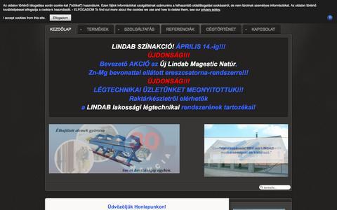 Screenshot of Home Page Privacy Page aliquander.hu - Aliquander Kft. Bádogos szaküzlet és Márkakereskedés - Főlap - captured March 13, 2017