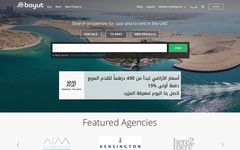 Screenshot of Home Page bayut.com - Property & Real Estate for Sale and to Rent in the UAE- Bayut.com - captured Dec. 4, 2016