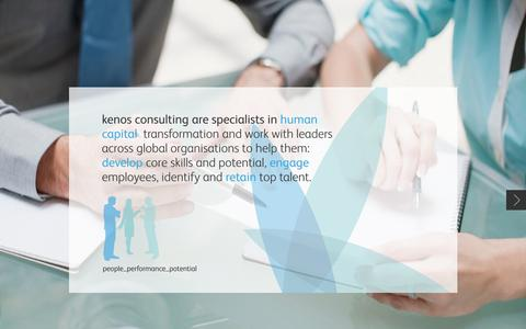 Screenshot of Home Page kenosconsulting.com - Kenos Consulting - People / Performance / Potential - captured Sept. 30, 2014