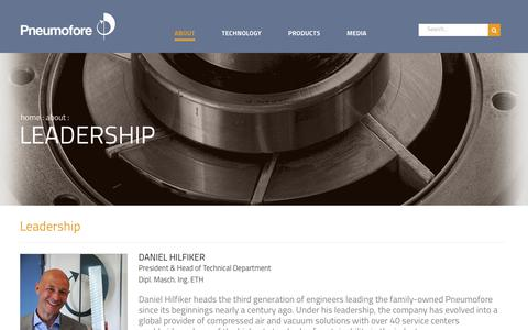 Screenshot of Team Page pneumofore.com - Leadership   Pneumofore - captured July 20, 2018