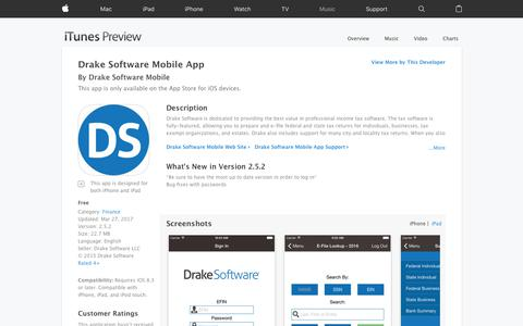 Drake Software Mobile App on the App Store