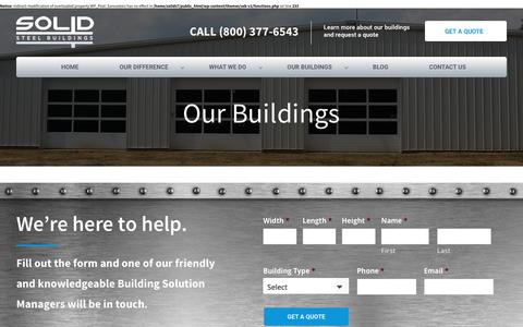 Screenshot of Testimonials Page solidsteelbuildings.com - Testimonials - Solid Steel Buildings - captured Feb. 15, 2016