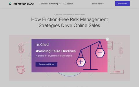 Screenshot of Team Page riskified.com - How Friction-Free Risk Management Strategies Drive Sales | Riskified Blog - captured Feb. 20, 2020