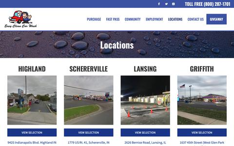 Screenshot of Locations Page myeasyclean.com - Locations - Easy Clean Car Wash - captured Dec. 14, 2018
