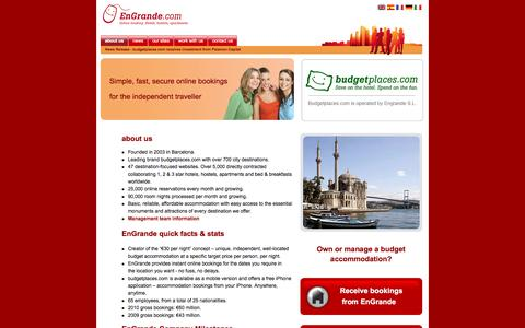 Screenshot of About Page engrande.com - EnGrande Corporate Site - Home - captured Jan. 20, 2017