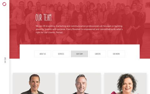 Screenshot of Team Page revolve.ca - Our Team | Revolve Branding & Marketing | Halifax, NS, Canada - captured June 18, 2019