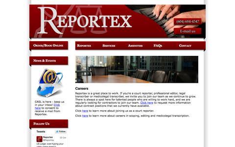 Screenshot of Jobs Page reportexagencies.com - Careers - captured Oct. 26, 2014