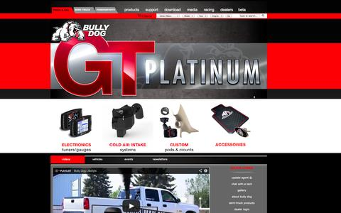 Screenshot of Home Page bullydog.com - Bully Dog - Gas and Diesel Performance - captured Sept. 22, 2014