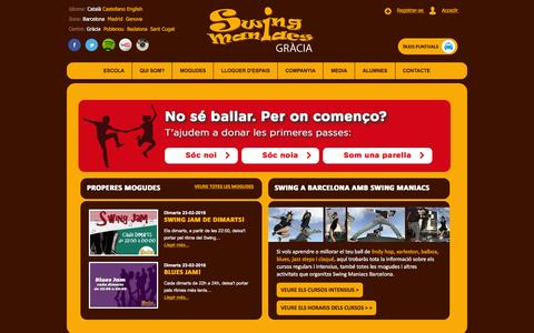Screenshot of Press Page swingmaniacs.com - Swing Maniacs. Swing a Barcelona. Aprèn a ballar SWING! Lindy Hop, Charleston, Jazz Steps, Balboa, Blues. Benvinguts - captured Feb. 22, 2016