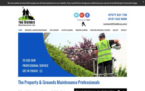 Screenshot of Home Page the2bros.com - Property maintenance by Two Brothers Maintenance Ltd, Oldbury - captured Oct. 24, 2017