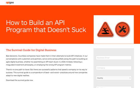 Screenshot of Landing Page apigee.com - How to Build an API Program that Doesn't Suck - captured March 3, 2018