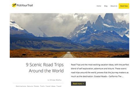 Screenshot of Blog pickyourtrail.com - PickYourTrail Blog - Stop Touring. Start Travelling. - captured Jan. 11, 2016