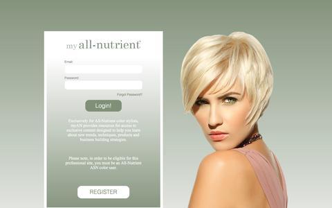 Screenshot of Login Page myallnutrient.com - Login/ Register | All-Nutrient - captured March 4, 2016