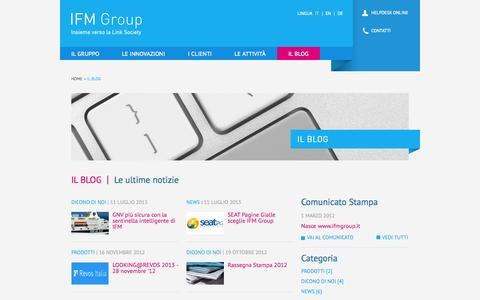 Screenshot of Blog ifmgroup.it - Blog | IFM Group - captured Oct. 3, 2014