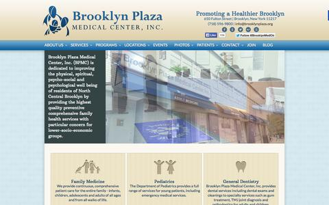 Screenshot of Home Page Locations Page brooklynplaza.org - Brooklyn Plaza Medical Center - Brooklyn, NY - captured Oct. 5, 2014
