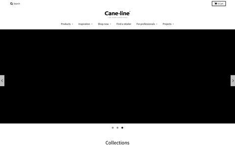 Screenshot of Home Page cane-line.com - Cane-line.com - comfortable high-end furniture for outdoor & indoor - captured Sept. 26, 2018
