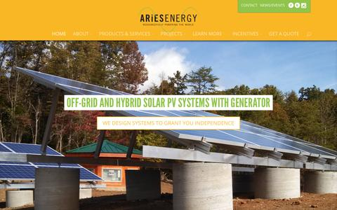 Screenshot of Home Page ariesenergy.com - ARiES Energy | Resourcefully Powering the World - captured Nov. 19, 2016