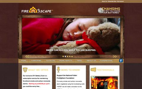 Screenshot of Home Page firexscape.com - • Fire Xscape • - captured Sept. 30, 2014