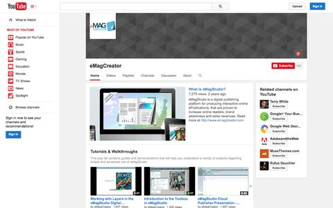 Screenshot of YouTube Page youtube.com - eMagCreator  - YouTube - captured Oct. 22, 2014